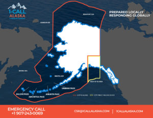 1-Call Alaska Coverage Map.