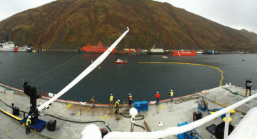 Oil spill drill, anchorage and aleutian islands